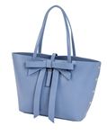 Large Bow Tote in Blue