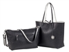 Reversible Tote with inner pouch in Black/White
