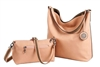 Reversible Hobo with inner pouch in Blush and Mushroom