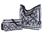 Reversible Hobo with inner pouch in Mosaic Print