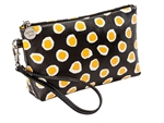 Yellow Dot Cosmetic Wristlet