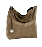 Taupe and Black Reversible Hobo