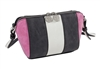 Black/Fuchsia Faux Suede Cross Body