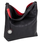 Black and Red Reversible Hobo