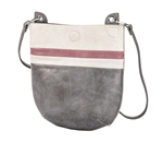Creme, Pink & Silver Crossbody