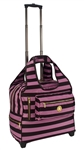 Brown and Pink Stripe Day Trip Bag