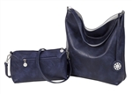 Navy & White Reversible Hobo