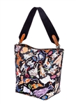 Dog Print Bucket Tote