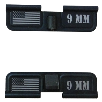 9 MM with USA Flag on Right  Ejection port  cover
