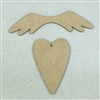 Heart and Wing Ornament