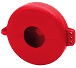 "Honeywell - North Safety Products VS06R V-Safe Wheel Valve Lockout - For Valves 5"" to 6.5"" In Diameter, Red"