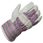 Ammex 815 Classic Work Gloves, Split Cowhide With Starched Cuff, Case of 120 Pairs