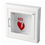 J L Industries 1417F12 Life Start Series AED Semi-Recessed Wall Cabinet w/Siren