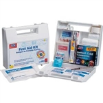 First Aid Only 222-U 10 Person First Aid Kit, Plastic Case with Dividers