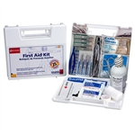 First Aid Only 223-U/FAO 25 Person First Aid Kit, Plastic Case with Dividers