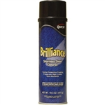 QuestVapco 249001 Brilliance Oil-Based Stainless Steel Cleaner, Case of 12 - 14.5 oz Aerosol Cans