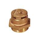 Justrite 08101 Brass Drum Vent, Vertical for Petroleum