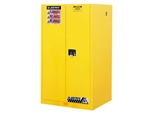 Justrite 896000 60G Yellow Flammable Safety Cabinet Manual Doors