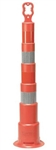 "Cortina 42"" EZ-Grab Channelizer Traffic Safety Cone with 4 6"" Stripes - Base Not Included"