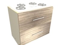 2 drawer cooktop base cabinet