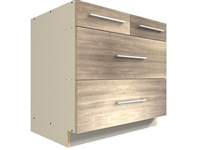 4 drawer split top base cabinet