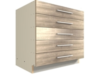 5 drawer base cabinet