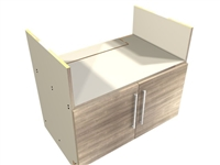 2 door FARM sink base cabinet