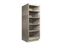 open tall cabinet with wide rails