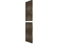 "Two piece WIDE STILE Tall finished end panel (HORIZONTAL grain- OVER 80"" HEIGHT)"