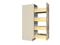 Pullout Pantry Rack (4 equal height shelves)