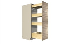 Pullout Pantry Rack (4 varied height shelves)