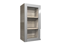 1 GLASS door wall cabinet