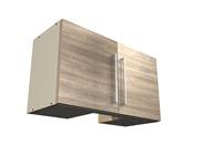 "2 door VENTED HOOD wall cabinet (10"" X 10"" cutout for duct)"