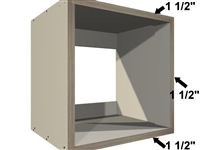 Wall appliance case (DUAL TOP, DUAL DECK, DUAL STILES)