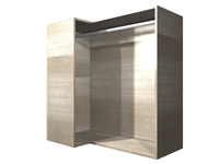 90 degree CORNER hanging rod wall cabinet (LEFT side return)