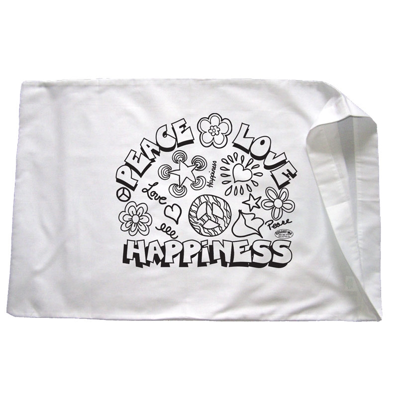 Peace love and happiness pillowcase for Peace love happiness coloring pages