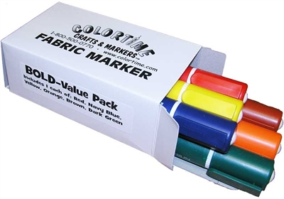 Bold Value Pack of Fabric Markers
