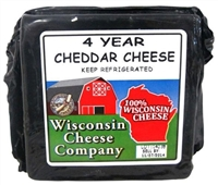 7.75oz. 4 Year Old Yellow Cheddar Cheese Block