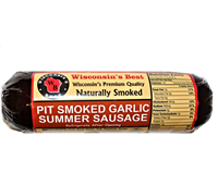 Garlic Pit Smoked Summer Sausage 12oz.