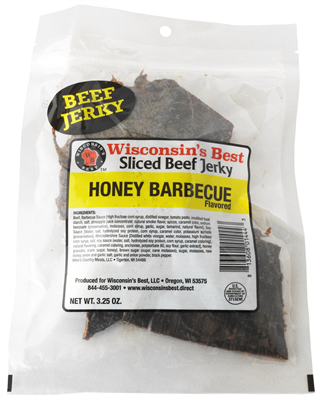 Real Honey BBQ Beef Jerky 3.25oz.