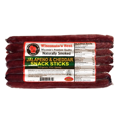 Jalapeno and Cheese Sausage Stick Value Pack 7oz.