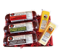 Summer Sausage and Cheese Sampler Gift Basket