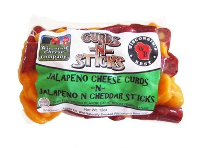 12oz. Jalapeno Cheese Curds n Jalapeno Cheddar Sticks Pack