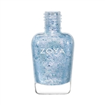 ZOYA Professional Nail Genesis Crystalline White Metallic Polish | Camphor Free Nail Polish, Safer Nail Enamels, Natural Make Up