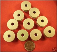 10 ALUMINUM BOBBINS M SIZE QUILTING FOR TIN LIZZIE 18