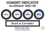 "04BW14C10 HUMIDITY INDICATOR CARDS, 10%-40%, 3.375""x1.5"", 100/PINT CAN"