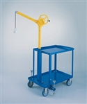 SKY HOOK W/MOBILE CART, HANDCRANK LIFT W/360 SWIVEL, 500#