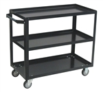 Cart, 3 Shelf Service 18x24 800# Cap Med Duty Boxed