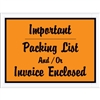 "4 1/2"" x 6"" Orange ""Important Packing List And/Or Invoice Enclosed"" Envelopes 1000/Case"