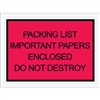 "4 1/2"" x 6"" Red ""Important Papers Enclosed"" Envelopes 1000/Case"